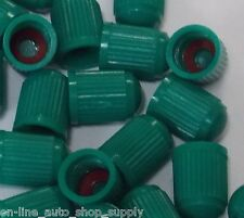 12 Pcs. Green Plastic TPMS Tire Valve Stem Caps WITH SEAL for Nitrogen inflation