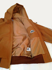 Carhartt Men Thermal Lined Duck Active Jacket (J131BRN) Hooded Brown Size Medium