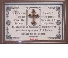"Bible Verse Plaque Scripture ""By His Stripes We Are Healed..""Christain,Art Gifts"
