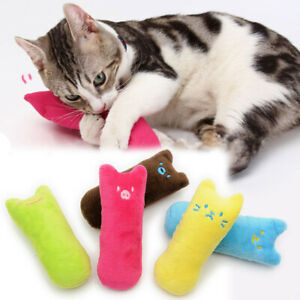 Cat Toys Pet Chewable Plush Toys With Rattling Paper Inside Teething Toys