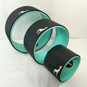 """Plexus Wheel 3 Pack Set 12"""" 10"""" & 6""""  Back Stretch Roller for Yoga  Teal"""