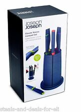 NEW JOSEPH JOSEPH ELEVATE KNIFE ROTATING MAGNETIZED CAROUSEL SET w/ 6 KNIVES