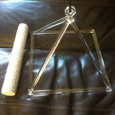 Crystal Tuning 12in Quartz Crystal Singing Pyramid high vibrational healing tool