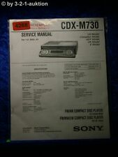 Sony Service Manual CDX m730 CD Player (#4268)