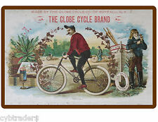 1908 Globe Cigar  Bike  Refrigerator / Tool Box  Magnet  Ad