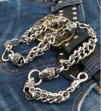 Double Lion connect Classic Biker Trucker Keychain Key Jean Wallet Chain NCS31
