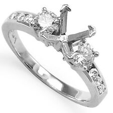 .78 Cwt Diamond Engagement Ring Setting 14k White Gold #R1120 Size 4 to 9.5