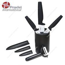 PRADEL - Bloc 3 Couteaux Céramique avec étuis de protection et un éplucheur