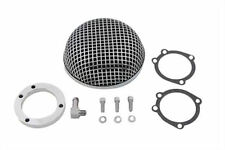 Mesh Retro Bobber Cafe Racer Chopper Chrome Air Cleaner Filter Harley Sportster