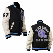 Beverly Hills Cop Eddie Murphy Axel Foley Detroit Lions Varsity Letterman Jacket