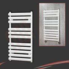 "500mm(w) x 930mm(h) ""Brecon"" White Designer Heated Towel Rail Bathroom Radiator"