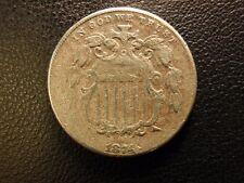 1874 shield nickel, very fine details