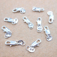 10PCS DIY Wholesale Jewelry Findings 925 Sterling Silver Lobster Clasps Hallmark