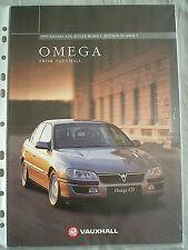 Vauxhall OMEGA GAMMA BROCHURE 1997 modelli 1