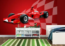 Wall mural wallpaper - For bedroom and children's room - Red sports car Formula