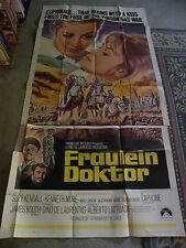 "Fraulein Dokter Suzy Kendall, Kenneth More 1969 movie poster 40"" X 84"" #69/77"