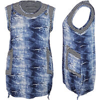 Womens Ladies Dress Sleeveless Tunic Casual Top Plus Size 18 20 22 24