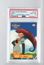 1999 TV9 Animation Topps  JESSE PSA 8 NEAR-MINT Pokemon