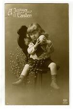 c 1913 Child Children Cute EASTER EGG KID photo postcard
