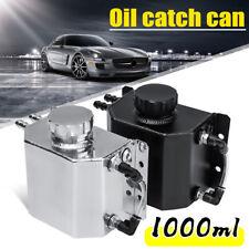 1L Universal Aluminium Oil Catch Can Breather Tank Reservoir Drain Plug CD34223