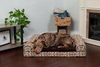 FurHaven Pet Cooling, Orthopedic, Memory Foam Southwest Bolstered Sofa Dog Bed