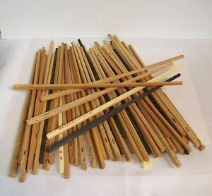 Huge Lot of Chopstitcks for Crafts, 60 Chopsticks Wooden, Plastic, Light Dark
