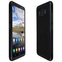 Skinomi Black Carbon Fiber Skin+Screen Protector For Samsung Galaxy S8 Active
