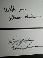 Susan Sullivan & Donna Anderson 2 Hand Signed 3X5 Index Card 'S - 2 Sexy Actress
