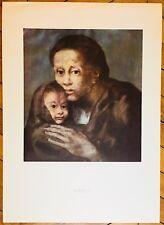 Picasso Pablo affiche Farb Offset 1966 Mère et enfant au fichu Muséum Barcelona