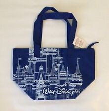 BNWT Walt Disney World Parks Insulated Castle Blue Tote Bag Large