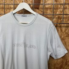 Vintage Stone Island, Spellout T-Shirt, Pale Blue, L LARGE (M MEDIUM) ICE MARINA