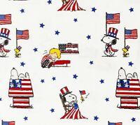 OOP RARE Snoopy Peanuts Patriotic Cotton Fabric Springs Creative 2020 Election
