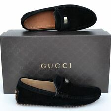 GUCCI New sz 6 G - US 6.5 Authentic Designer Mens Drivers Loafers Shoes black
