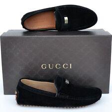 GUCCI New sz 6.5 G - US 7 Authentic Designer Mens Drivers Loafers Shoes black