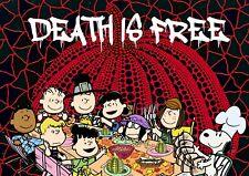 Death NYC Ltd Ed 45x32cm LARGE Signed Graffiti Pop Art Print Let's Eat Pumpkin 3