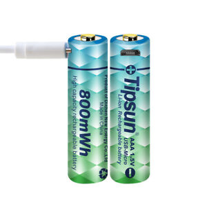 TIPSUN AAA Battery Li-ion 800mWh 1.5V USB Rechargeable High Capacity Battery