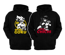 🔥 Her Goku His Chichi couple Matching Hoodies  Adult Pullover  DBZ Fans Gift