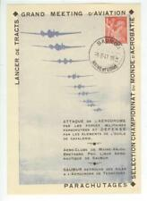 1947 Saumur France Grand Meeting D'Aviation card - cover