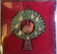 Vintage 1976 Partridge in a Pear Tree Hallmark Christmas Ornament