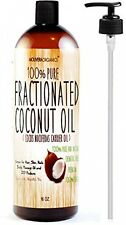 Molivera Organics Fractionated Coconut Oil 16 Oz. Premium Grade A, 100% Pure -