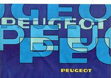 Brochure depliant PEUGEOT 305 505 504 504 COUPE CABRIOLET V6 TI GRD GR SR STI GL