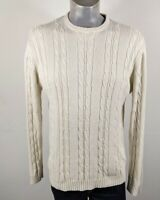 M & S Blue Harbour Stone Cotton Crew Neck Jumper Medium