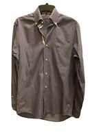PAUL AND SHARK MEN'S LONG SLEEVE BUTTON FRONT STRIPED SHIRT SIZE SMALL