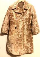 """Vintage Impeccable Couture Genuine Fur Coat 38"""" Long Exquisite Plush"""