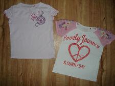 2 T- Shirt 104 110 116 rosa TOP Esprit zuckersüß 2 er Set / Pack Shirts Kurzarm