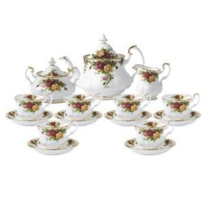 ROYAL ALBERT OLD COUNTRY ROSES COMPLETE TEA SET 15PCE RRP$1349.00