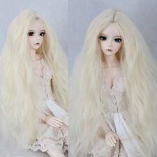 "BJD Doll Wig 8-9""1/3 SD DZ DOD LUTS Corn Wavy Curly Hair Toy Blonde Long Wig"