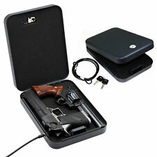 Gun Vault LockBox Car Truck Handgun Pistol Safe Lock Box Cash Jewelry Full Size