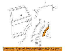 TOYOTA OEM RAV4 Exterior-Rear-Wheel Well Fender Flare Molding Left 6168242050B2