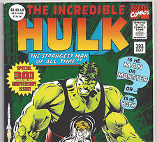 The Incredible HULK #393 30th Anniversary Foil Edition from May 1992 in VF DM